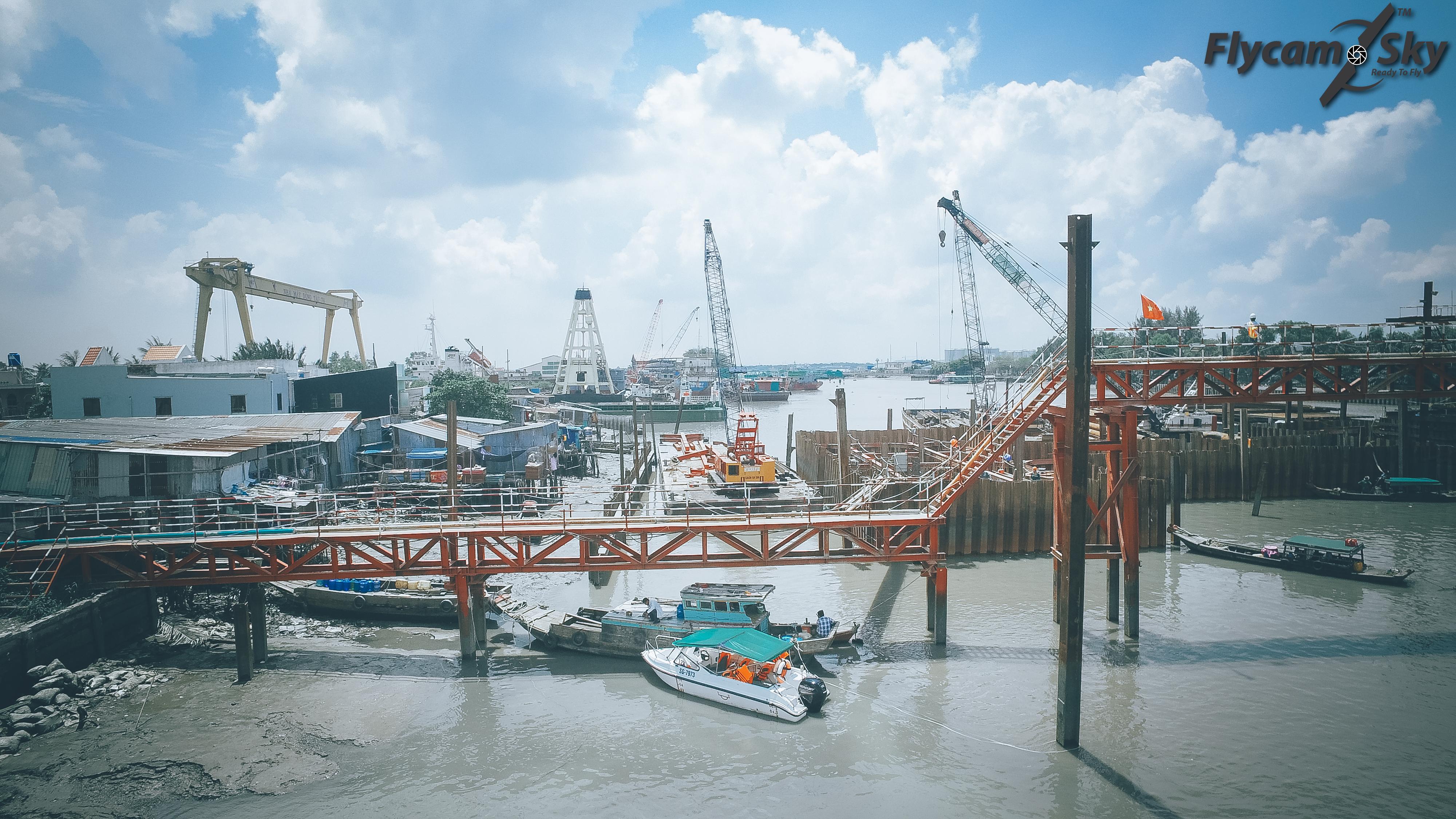 Công trình chống ngập bảo vệ người dân Sài gòn nhìn từ Flycam