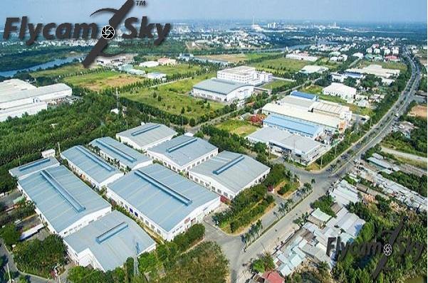 Chụp hình bằng flycam tại khu nhà máy của khách hàng