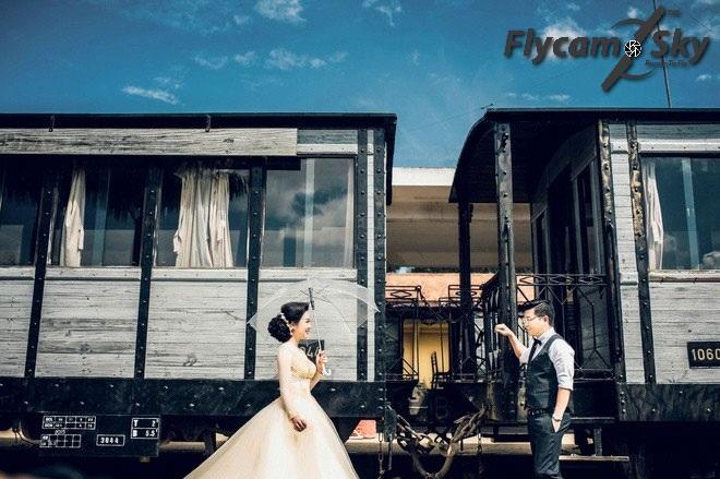 Bức ảnh cổ điển tại ga xe lửa Đà Lạt