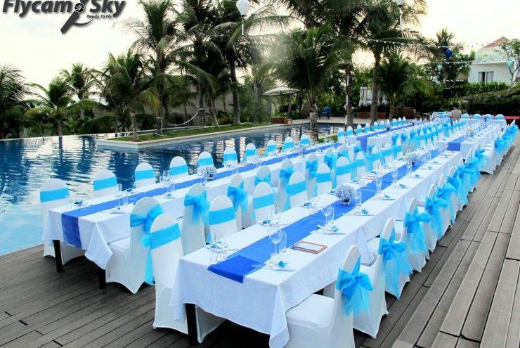 Một số bí quyết hay trang trí resort phóng sự cưới.
